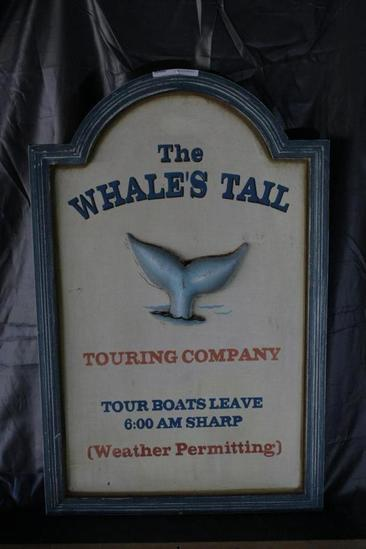 "17x27 Art Sign ""The Whales Tail"""