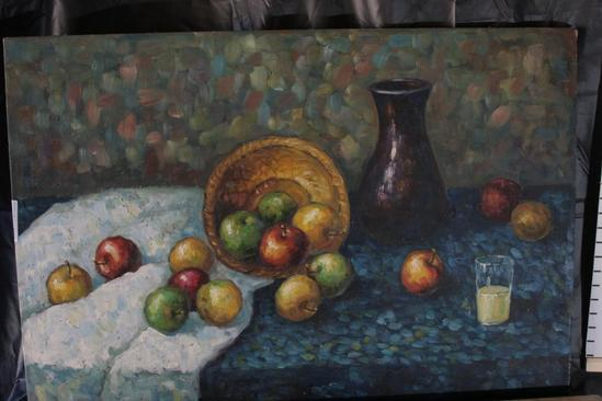 "24x36"" Fruits on table Framed Art by Duford"