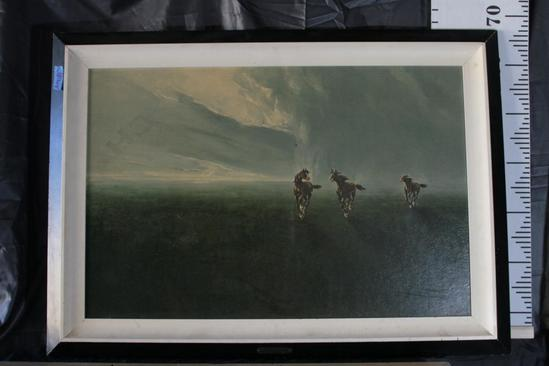 "36x25 Framed Art by Mario Bordi ""Freedom of the Plains"""