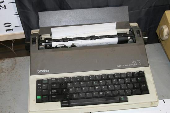 Brother Model AX-12 Electronic Typewriter Powers on