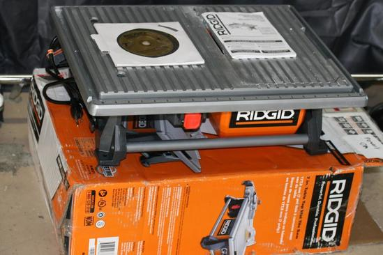 Ridgid 120-volt 7 In. Table Top Wet Tile Saw, upc 648846068688