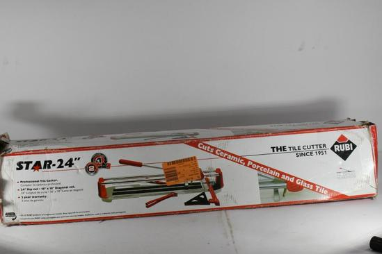 Rubi Star 24 in. Manual Tile Cutter upc 8413797129038