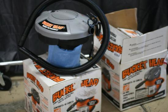 2 Units Five Gallon 1.75 HP Wet Dry Vacuum Vac For Use With Multi Bucket Sold Separately