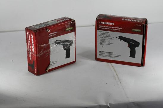 2 Units Hammer Drills: Husky Air Powered Tools Medium Stroke Air Hammer UPC 722470278412