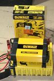 2 Units Dewalt 1000-watt Power Inverter Lcd Display Heavy Duty Metal Clamps 3-usb Ports