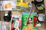 Misc. Tools & Repair kit, Husky Air Pressure Gauge, Flex Tape, Heavy Duty Zipper Etc.