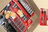 Assorted Husky Tools Ratchets, Standard & Impact Sockets, Adapters,