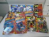 Various Marvel Action Figures, X-Men, Spiderman, X-Men Water Wars, Etc. 14 Units