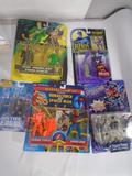 Box of Various Batman And Spiderman Action Figures, Venom, Joker, Riddler, etc.