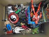 Entire Box of Miscellaneous toys, Star Trek, Deadpool , Star Wars, Karate Kid Toy Pistols, etc.