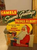 Vintage 3ft x 2ft Camel Cigarettes Christmas Advertisement