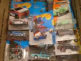 Box of 20 Various Matchbox Hot Wheels Cars