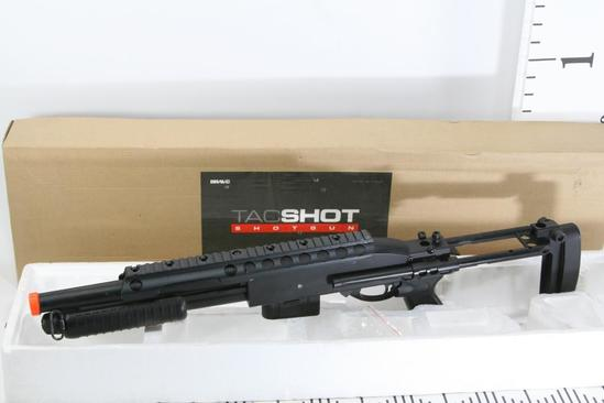 Bravo TacShot Shotgun Full Metal Airsoft Fake Rifle with clip and a Retractable Stock 2x .5 ft