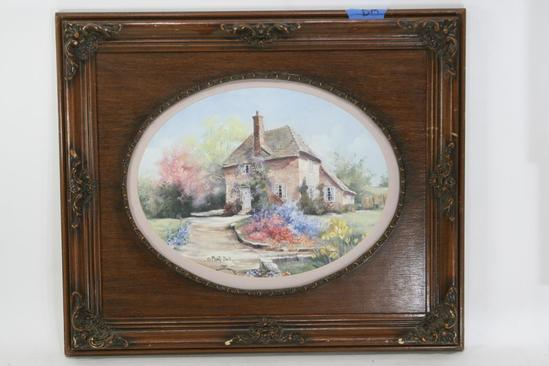 Framed Art 12 x 16 Oval by Marty Bell Print 181