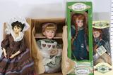 Assorted Porcelain Doll Collections from Yesterdays Child, Anne of Green Gables Etc. 4 units