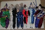 Assorted Porcelain Clown Dolls Avg 16