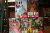 Wizard of Oz Barbie Doll Collection TinMan, CowardlyLion, Dorolthy, Scarecrow & Glinda 5 units