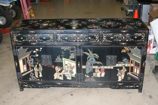 "Hand carved Japanese Asian Dresser 5ft Long 33"" Tall"