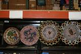Australian Bundjalung Influenced Plate Art, Small and Decorative Serving Plates one Appears Handmade