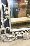Large Decorative Silver Painted Mirror 6ft tall