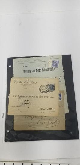 Various Antiques International Stamped Envelopes with Seals early 1900's