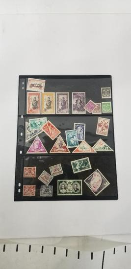 Vintage Manaco Stamp Collection