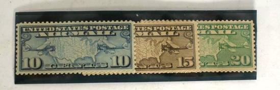 1926 Airmail Stamp 10 15 20c, 3 units