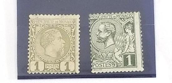 1885 Monaco Stamp 2 units