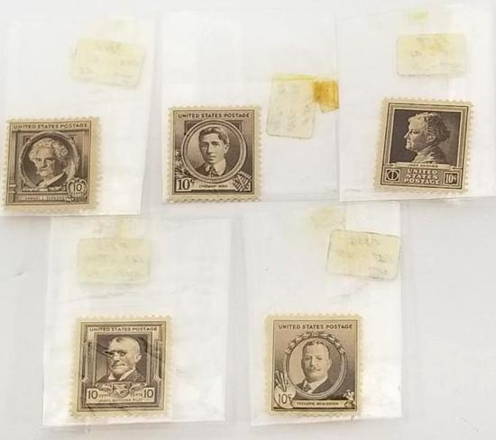 Collectible 10 cents stamp 5 units