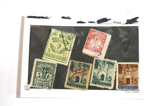 Various Antique Collectible Stamps In Protective Envelope Various Values