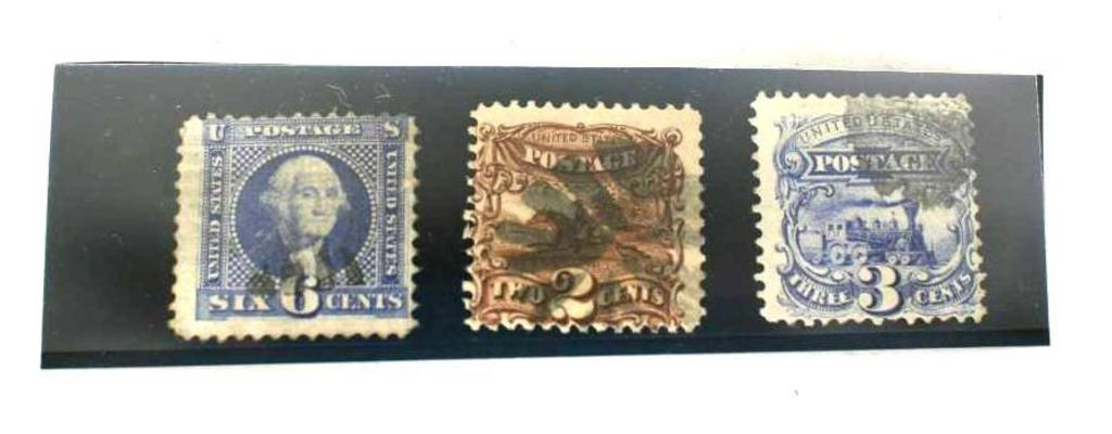 1869 Stamp Collection 2 3 6c , 3 units