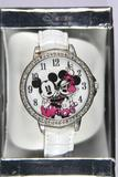 Disney Mickey and Minnie Mouse Rotating Disc Watch