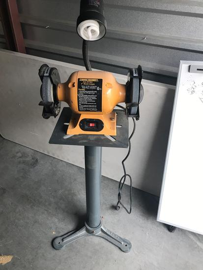 Central Machinery 6 Inch Bench Grinder On Stands With Light