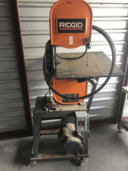 Ridgid BS14002 Band Saw on Rolling Stand