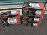 500W Quartz Halogen Mountable Flood Lights - Lot of 4 Rab White