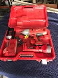 Milwaukee 18v Impact Wrench Light Battery And Charger Set 9079-20