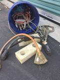 Bucket of miscellaneous ? clamps, power cords, etc.