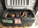 Cargo Box Full of Leather and Cloth Tool Belts
