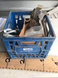 Crate Full of Hardware Leveling Plates Simpson Anchor Bolts