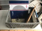 Crate of Used Saw Blades 8 Units