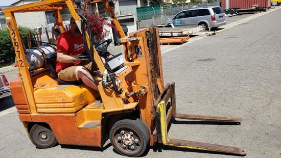 Toyota LP/ Propane Forklift Starts and Runs A484058