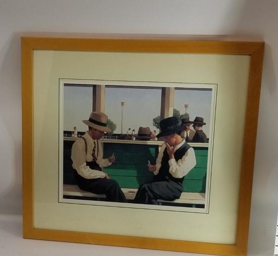 Playing card framed Art 2in TAll 2ft wide