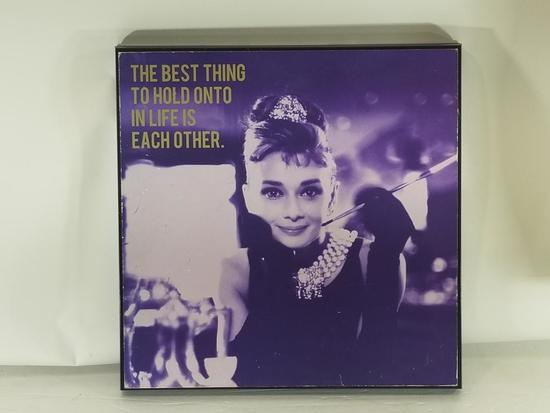 The Best Thing To Hold Onto In Life Is Each Other Framed Art 13in Tall 16in Wide