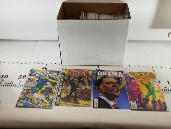 Box of varrious Comic books The Walking Dead, Obama, Death Head , Evil Ernie, Flintstones
