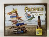 Wooden Pacifico Beers Bar Picture 17in tall 24in Wide