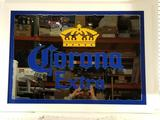 Corona Extra Framed Glass Bar Mirror 27in Tall 51in Wide