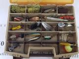 Fenwick 40 Tackle box with lures 9in tall 14in wide