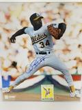 Cooperstown Collection Dave Stewart Signed Photo W No-Hit Club Card 18in Tall 16in Wide