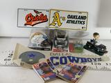 Sports Products licences plates, Philip Rivers Signed Mini Helmet, Bobble Head, Tony Gwyn TV Guides