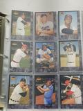 Binder With Sheet's of Baseball Cards
